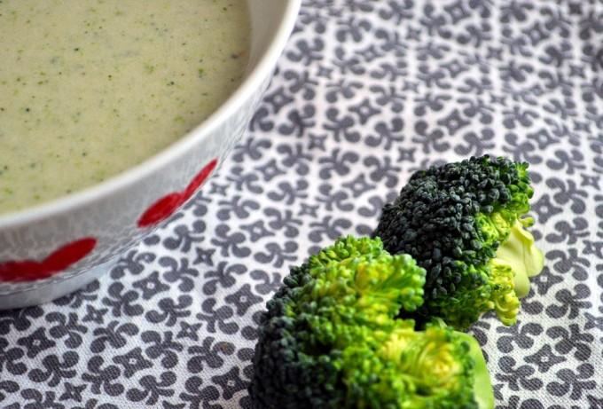 Brokkoli- og blomkålsuppe