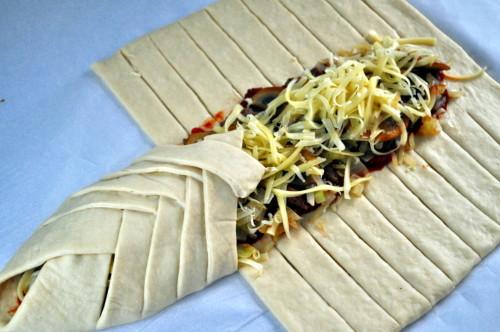 Flettepizza med kjøttdeig