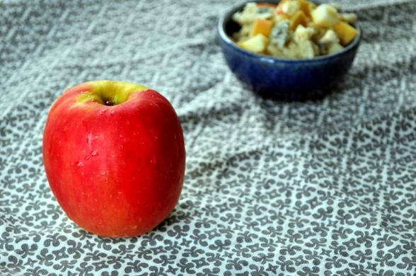 Risotto med eple og blåmuggost