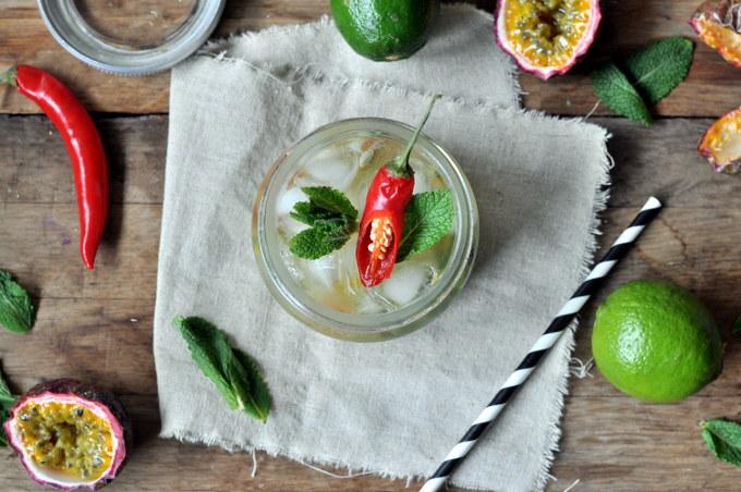 Mojito med pasjonsfrukt og chili