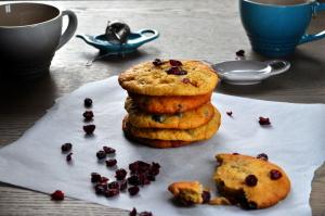 Cookies med tranebær og hvit sjokolade