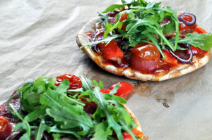 Pitapizza med pepperoni