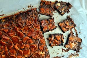 Saftige brownies med marshmallows