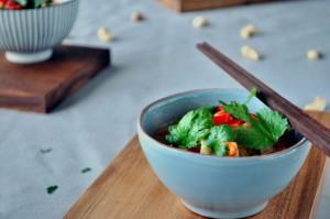Grønn curry med svinekjøtt