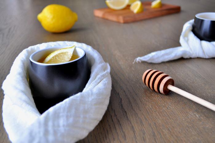 Varm lemonade med honning