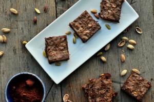 Brownies med pistasj