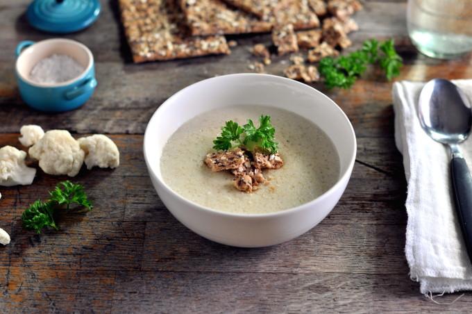 Kremet blomkålsuppe med quinoa