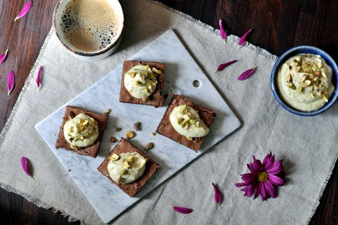 Brownies med pistasjkrem