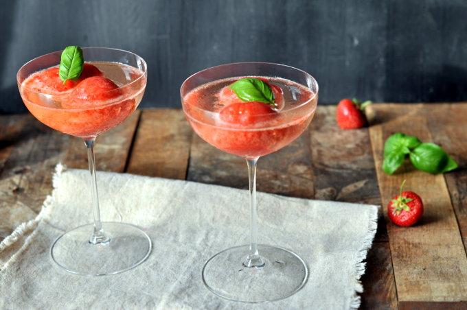 Frossen jordbærdrink