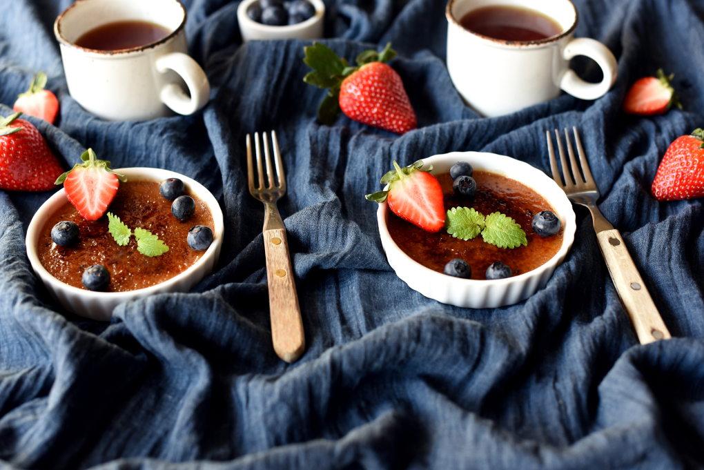 Créme brûlée med melkesjokolade
