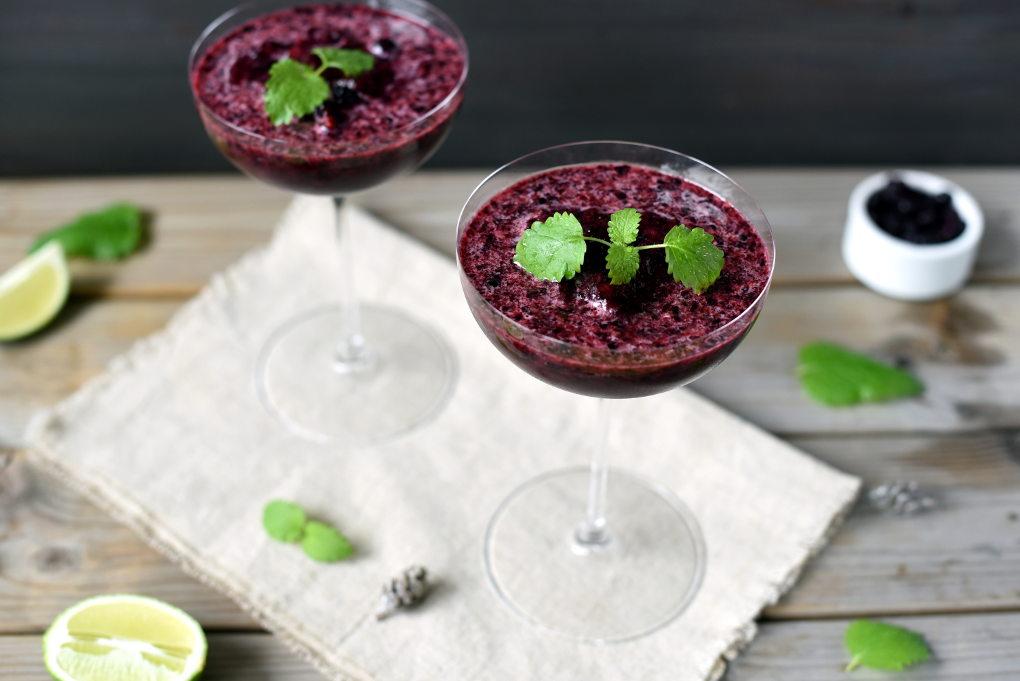 Søt og syrlig blåbærmargarita