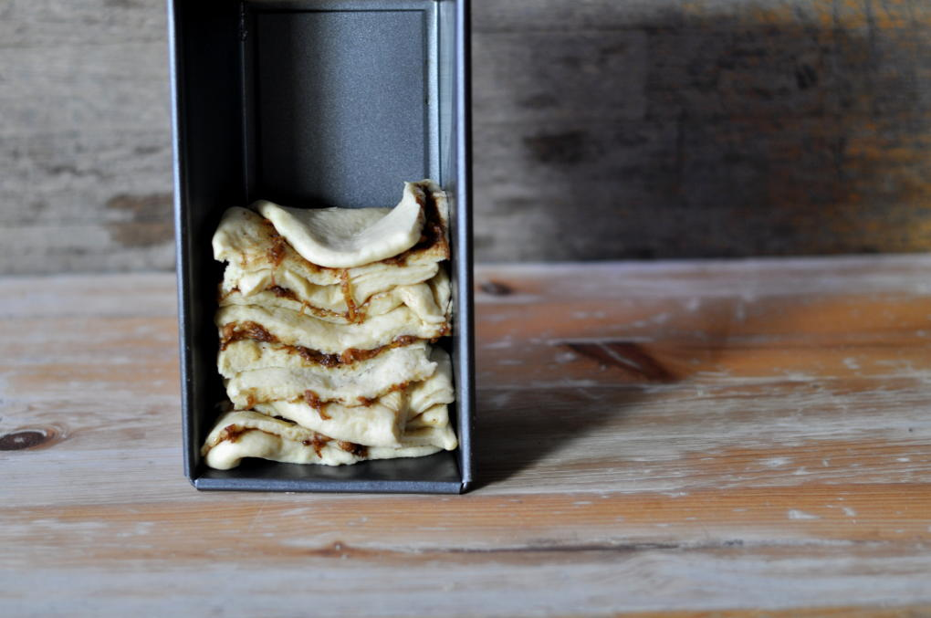 Søtt stablebrød med eple og kanel