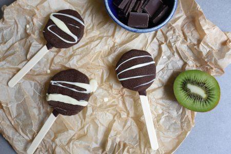 Kiwiis med sjokolade